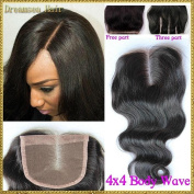 Obzer USA 7A Brazilian Virgin Hair Front Frontal Lace Closure Human remy Hair Extensions Body Wave Weave Free Part