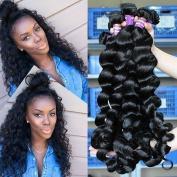 Obzer USA 7A Brazilian Virgin Hair Extensions Human Hair Weave Weft Remy hair Loose Wave Hair