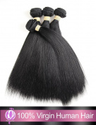 "Brazilian Virgin Hair Straight Wave 7A Unprocessed Virgin Human Hair Extensions 4 Bundles Brazalian Human Hairs Mixed Length , 12""14""16""18"" inch"