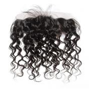 BEFA Hair Malaysian Italian Curl Lace Fronta Closure 33cm x 10cm Unprocessed Human Hair Frontal Bleached Knots Closure Natural Colour