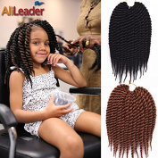 30cm Ombre Colour Havana Mambo Twist Crochet Braid Hair #4 Colour Synthetic Twist Braids 12 Roots/Pack from AliLeader