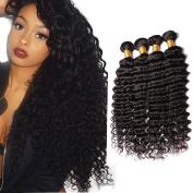 8a Remy Virgin Peruvian Deep Wave Human Hair Extensions 3 Bundles Unprocessed Hair 50cm 60cm 60cm 300g Natural Black