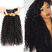 8a Virgin Peruvian Hair Weave Unprocessed Kinky Curly Real Human Hair 4 Bundles 41cm 46cm 50cm 60cm 400g Natural Black
