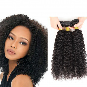 Peruvian Virgin Kinky Curly Weave 3 Bundles Unprocessed Human Hair Extensions 41cm 46cm 50cm 300g Natural Black