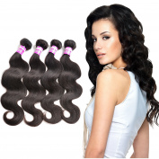 8a Peruvian Body Wave 4 Bundles 100% Unprocessed Virgin Hair Bundles Remy Human Hair 30cm 36cm 41cm 46cm 400g Natural Black