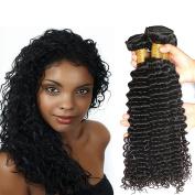 Brazilian Deep Curly Virgin Hair 20 22 60cm Natural Black Colour 8a Unprocessed 100% Virgin Human Hair