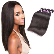 Brazilian Straight Hair 4 Bundles 18 20 22 60cm 100% Unprocessed Virgin Human Hair Extension Hair Weave Weft Natural Black Colour