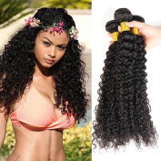 Brazilian Curly Human Hair 4 Bundles 18 20 22 60cm Natural Black Colour 100% Unprocessed Virgin Human Hair Weave Weft