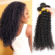 Brazilian Curly Virgin Hair Weave Unprocessed 16 18 50cm Natural Black Colour 100% Virgin Human Hair Weave Weft