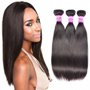 Brazilian Straight Hair 3 Bundles 20 22 60cm 100% Unprocessed Virgin Human Hair Extension Hair Weave Weft Natural Black Colour