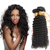 Brazilian Deep Curly Hair 4 Bundles 16 18 20 60cm Natural Black Colour 8a Unprocessed 100% Virgin Human Hair