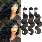 Body Wave Peruvian Virgin Unprocessed Human Hair Extensions 3 Bundles Mixed Length 36cm 41cm 46cm 300g Natural Black