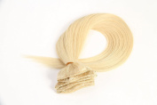 Arling 50cm Clip in Remy Real Human Hair Extensions 10 pcs Double Weft Thick Full Head Light Blonde