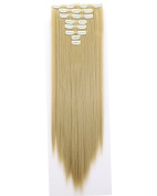 New Arrival Double Weft Thick 8 Pieces Full Head Straight Clip In Hair Extensions - 60cm Ash Blonde