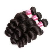 "Greatremy Grade 6A Brazilian Virgin Human Hair Bundles Loose Wave Hair Weave 3 bundles 24""26""28"" 300g Natural Colour"