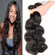 Malaysian Hair 3 Bundles with Closure Hair Piece Weave - Body Wave Hair Black Extensions, Mixed Length