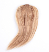 Rosette Hair 100% Human Hair Side-Swept Clip in Hair Bangs - Easy Clip on Hair Extensions Weave Unprocessed Hair Weft
