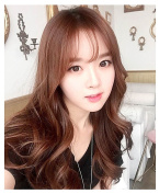 Better-Home 60cm Women's Long Wavy Curly Synthetic Hair Cosplay Party Wig with Air Bangs