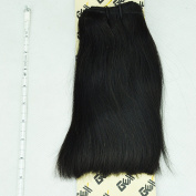 GEX 8A 100g 1 Bundle Unprocessed Brazilian Virgin Remy Hair Weft Hair Extension Silky Straight Natural Black 20cm