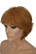 Short Red Wig with Bangs
