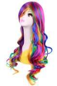 Uarter Rainbow Rock Spring Bouquet Cosplay Party Wig