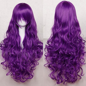 """Anime Cosplay Full Wig with Bangs 24-40inch 13 Colours Japanese Kanekalon Fibre Heat Resistant Synthetic Wig Long Curly Wavy Vogue 32"""" / 80cm for Women Girls Lady Fashion"""