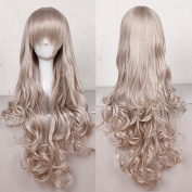 "Anime Cosplay Full Wig with Bangs 24-40inch 13 Colours Japanese Kanekalon Fibre Heat Resistant Synthetic Wig Long Curly Wavy Vogue 32"" / 80cm for Women Girls Lady Fashion"