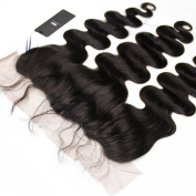 HERMAY Free Part Ear to Ear Lace Frontal Closure 13x 4 Brazilian Body Wave Virgin Hair Full Lace Frontal Closure,Lace Frontals With Baby Hair Lace Front Closure Human Hair Bleached Knots Natural Colour 50cm