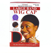 Donna Premium Collection Large Band Wig Cap Black 100 pieces 23102