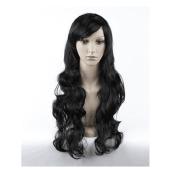 Meditative Rose Women Long Curly Hair Wavy Wig