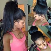 Obzer USA 7A BrazilianVirgin Hair Front Full Lace Human Hair Wigs For Black Woman Silky Straight Hair Glueless Wigs Remy Hair Wigs