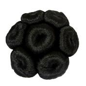 DCS Simple Kondee Hair Wig (13X4X10Cm) Standard Black Colour