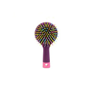 SIO Anti Static Detangling Noodle Hair Brush with Back Mirror Random Colour