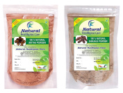 100% Natural Aritha Nuts (SAPINDUS MUKOROSSI) Shikakai Pods (ACACIA CONCINNA) Powder (PACK OF 2)