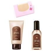 BUNDLE - Skinfood Argan Oil Silk Hair Mask Pack 200g + Skinfood Argan Oil Silk Hair Essence 100ml + SoltreeBundle Natural Hemp Paper 50pcs