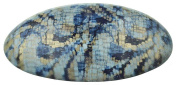 CP2258, Barrette, Oval, Granite Blue Gold