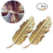 OR Pure 2 Pack Hair Beauty Tool Leaf Shaped Hair Clip Pin Claw Headwears Hair Accessories