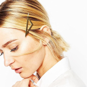 Simple stylish hair or bobby pin, triangle design