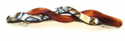 Wardani, 11 Cm Long Braided French handmade Barrette special Tortoiseshell