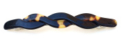 Wardani, 11 Cm Long Braided French handmade Barrette acetate Tortoiseshell