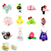 12 pcs Lot Baby Children Toddlers Grosgrain Hair Bows Alligator Hair Clip Animal Hair Accessories with 2 Layer Gift Box #2