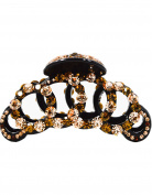 Fancyin New arrival Luxury 9.9cm Champagne Austrian Crystal colourful rhinestones hair claw clip for women