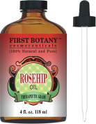 Rosehip Oil - 100% Pure Cold Pressed & Organic 120ml - Best Moisturiser to heal Dry Skin & Fine Lines - Virgin Rose Hip Seed Oil For Face and Skin