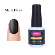 CLAVUZ Matte Top Coat Gel Nail Polish Matte Finish No Wipe Non-Cleansing Long Lasting Soak Off UV LED Nail Art DIY at Home 8ml