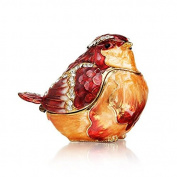 Welforth Red Bejewled Bird Trinket Box Model No. J-440