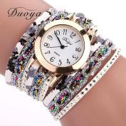 Binmer(TM) Duoya Brand Women Flower Popular Quartz Watch 2016 New Watches Luxury Bracelet Women Dress Lady Gift Flower Gemstone Wristwatch