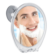 5X Magnifying Fogless Shower Mirror, with Razor Hook for Anti Fog Shaving, 360 Degree Rotating for Easy Mirrors Viewing, Super Strong Power Lock Suction Cup, Enhance Your Shave Experience Now!