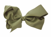 Lollipop Extra Large Greatlookz Grosgrain Hair Bow, Olive Green