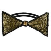 Tassel Dolorosa Hair Tie, Gold Black