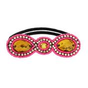 Tassel Park Ave Hair Tie, Neon Pink